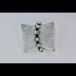 Crystal Iridescent Corded Adjustable Bracelet